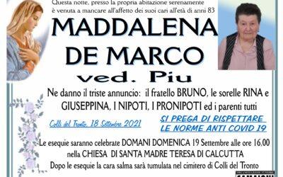 MADDALENA DE MARCO